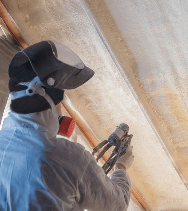 Spray foaming your home is a good insulation option.